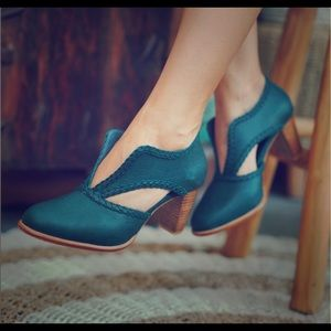Bali Elf Spirit Walker Booties Emerald Emerald